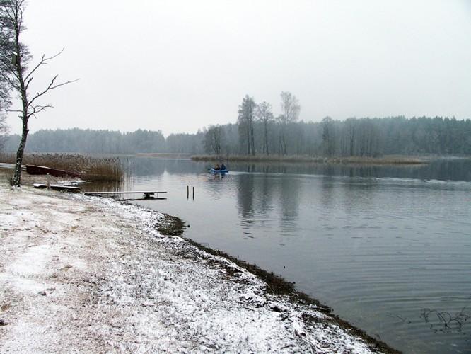 Plaukimas baidare žiemą